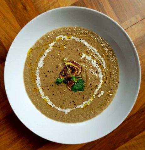 Mushroom and Black Pepper Soup